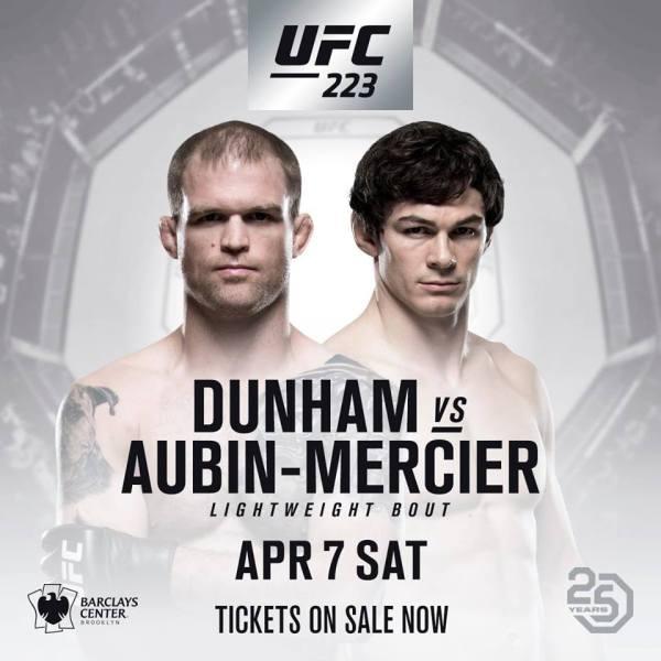 Evan Dunham, Olivier Aubin-Mercier (Facebook/UFC)