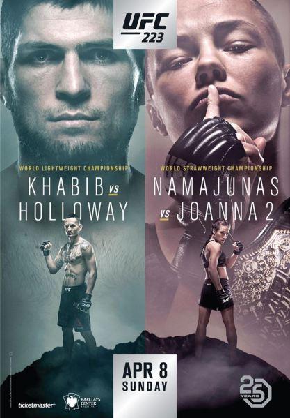 Khabib Nurmagomedov, Max Holloway, Rose Namajunas, Joanna Jedrzejczyk (Facebook/UFC)