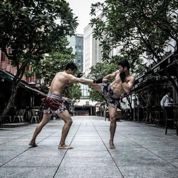 Nong-O Gaiyanghadao, Sagetdao Petpayathai (Facebook/Evolve Fight Gear)
