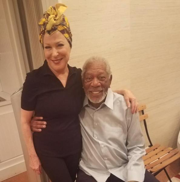 Bette Midler, Morgan Freeman (Facebook/Morgan Freeman)