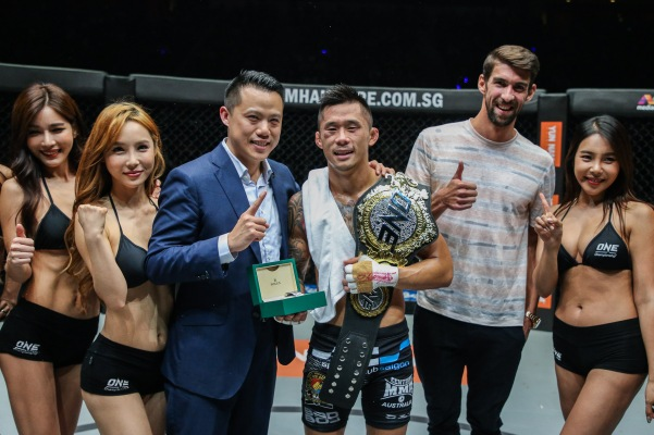 Hua Fung Teh, Martin Nguyen, Michael Phelps