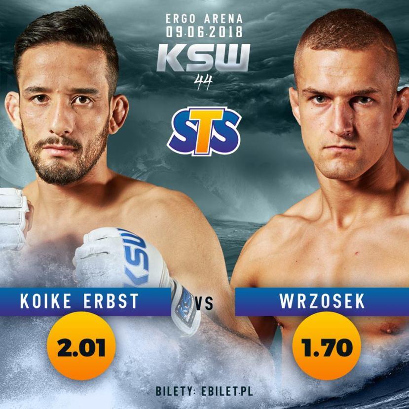 Kleber Koike Erbst, Marcin Wrzosek (Facebook/KSW)