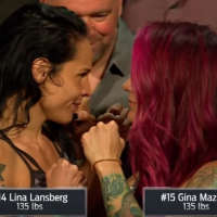 Gina Mazany vs Lina Lansberg at 'UFC Fight Night 130' in Liverpool, England