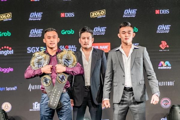 Martin Nguyen, Chatri Sityodtong, Christian Lee (© ONE Championship)