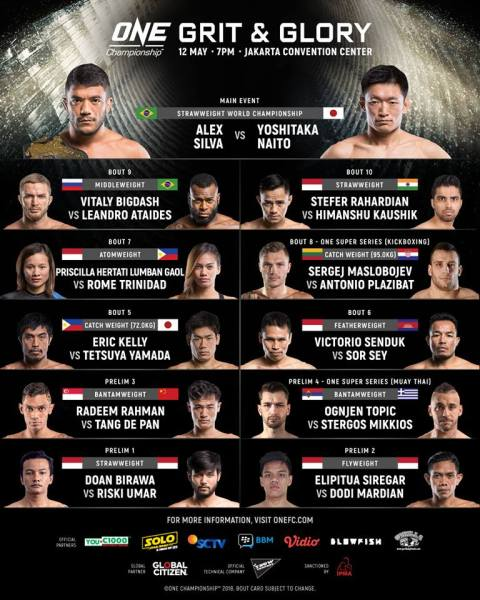 'ONE: Grit and Glory' fight card