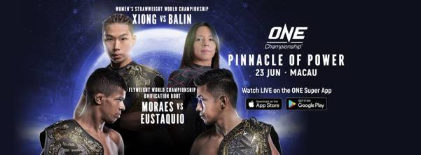 'ONE: Pinnacle of Power' (Facebook/ONE Championship)