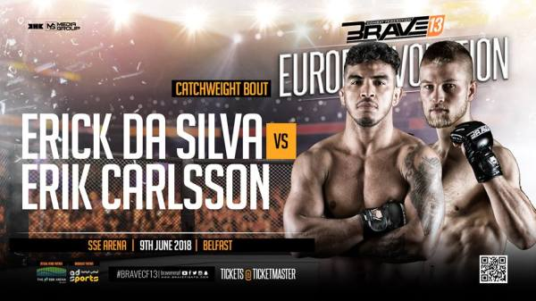 Erick da Silva, Eric Carlsson (Facebook/Brave Combat Federation)