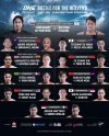 'ONE: Battle for the Heavens' fight card