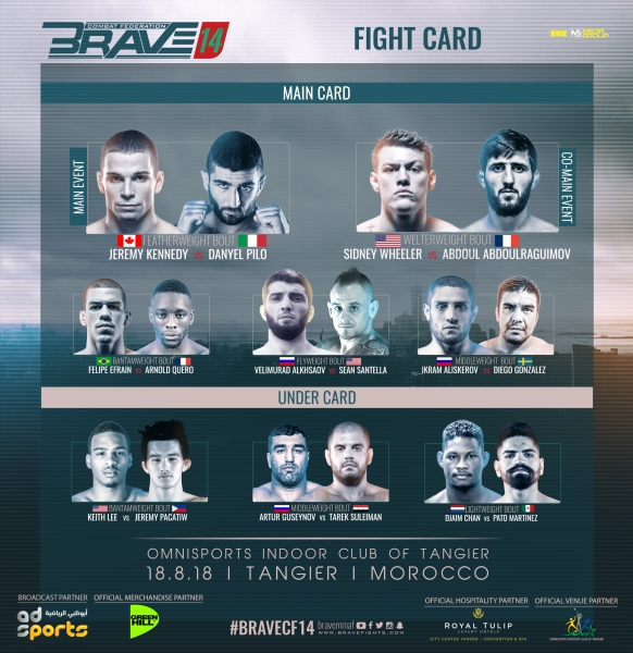 'Brave 14' fight card