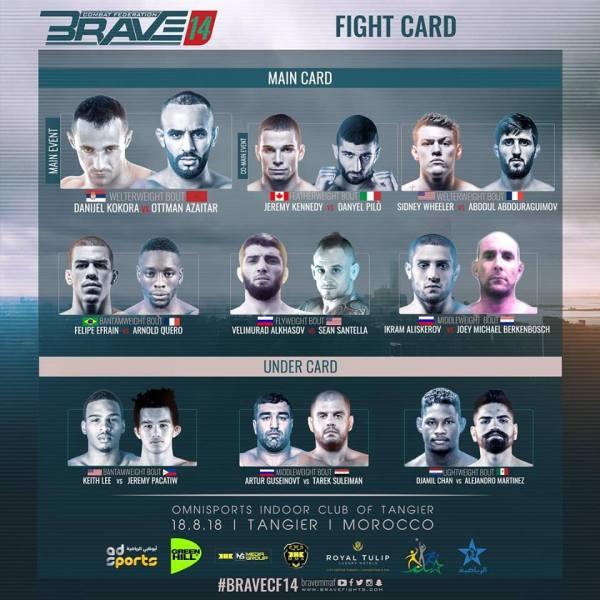 'Brave 14' fight card