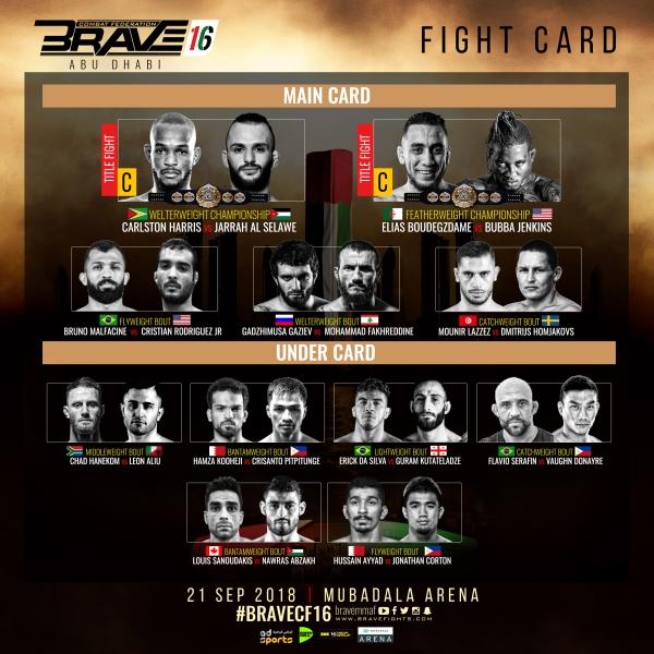 'Brave 16' fight card