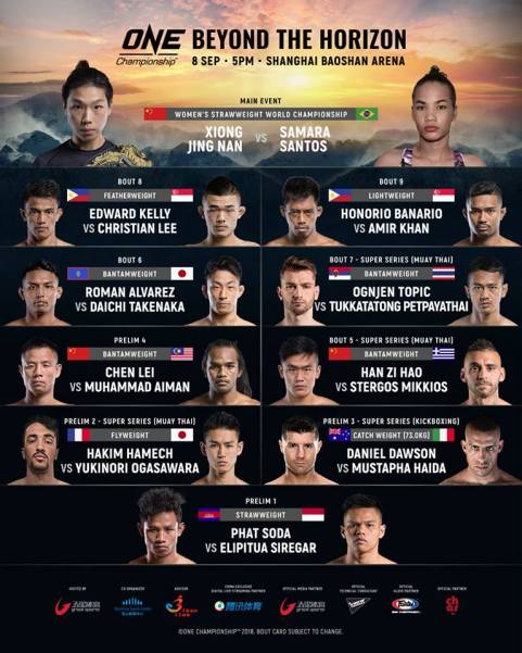 'ONE: Beyond the Horizon' fight card