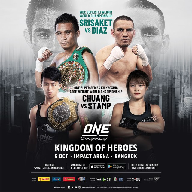 'ONE: Kingdom of Heroes' fight card