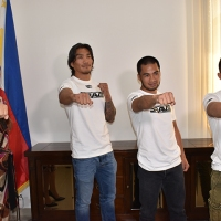 Vaughn Donayre, Crisanto Pitpitunge, Jon Chris Corton visit Philippine embassy in UAE