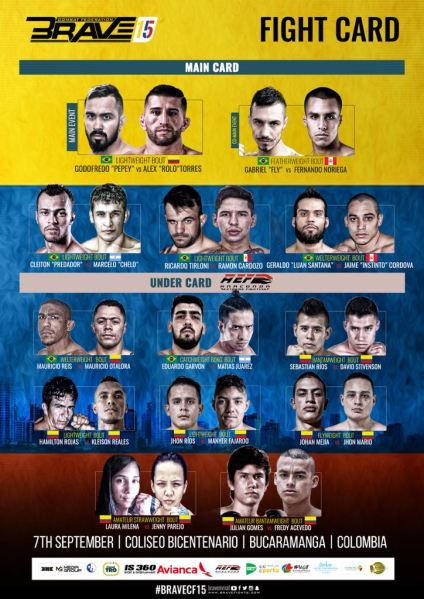 'Brave 15: Colombia' fight card
