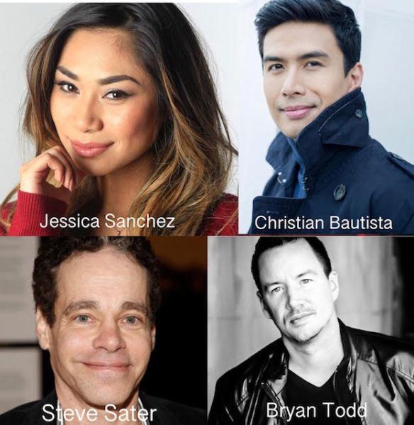 Jessica Sanchez, Christian Bautista, Steven Sater, Bryan Todd