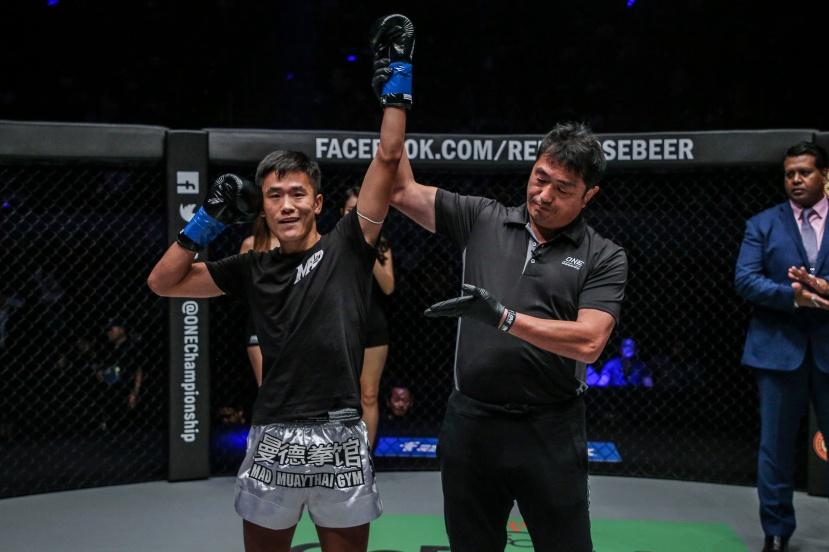 Han Zi Hao, Atsushi Onari (© ONE Championship)