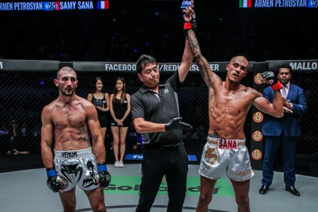 Armen Petrosyan, Atsushi Onari, Samy Sana (© ONE Championship)