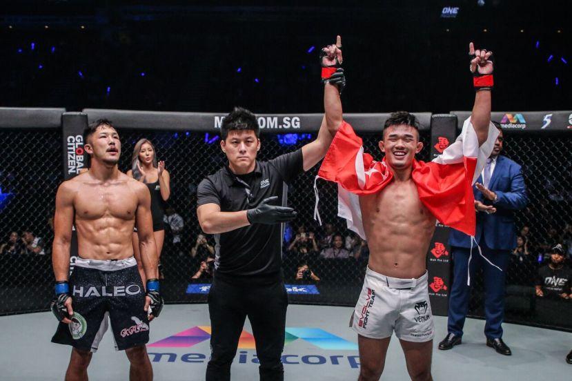 Kazuki Tokudome, Kemp Cheng, Christian Lee (© ONE Championship)