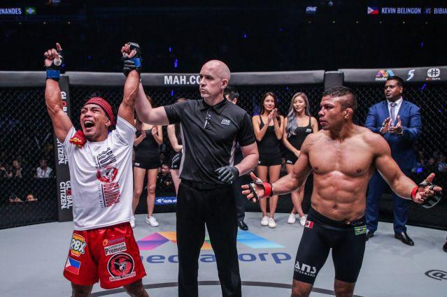 Kevin Belingon, Olivier Coste, Bibiano Fernandes (© ONE Championship)