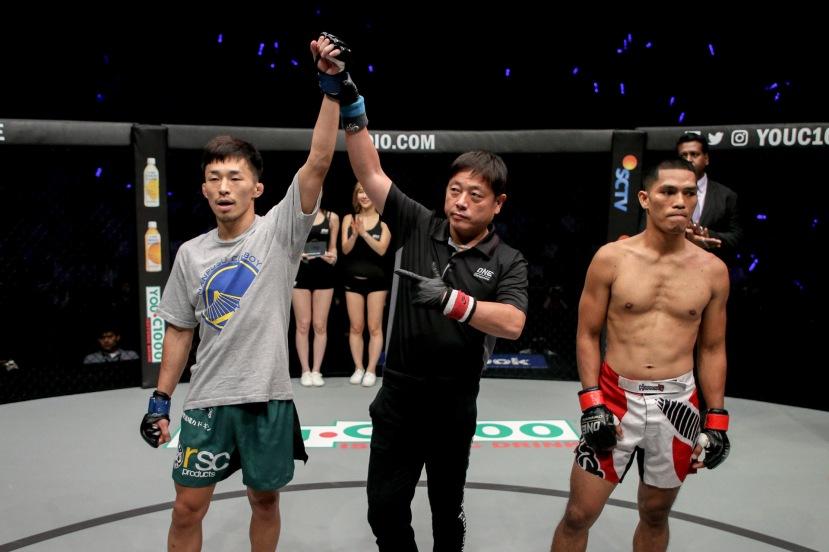 Tatsumitsu Wada, Yuji Shimada, Eugene Toquero (©ONE Championship)