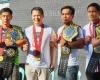 Joshua Pacio, Geje Eustaquio, Mark Sangiao, Kevin Belingon, Eduard Folayang, Stephen Loman (© ONE Championship)