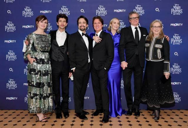 Emily Mortimer, Ben Whishaw, Lin-Manuel Miranda, Rob Marshall, Emily Blunt, Colin Firth, Meryl Streep