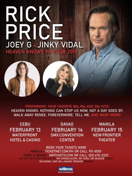 Rick Price, Joey G, Jinky Vidal
