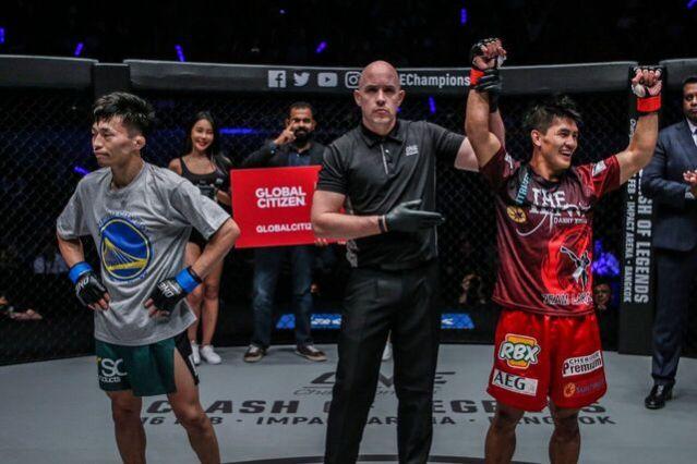 Tatsumitsu Wada, Olivier Coste, Danny Kingad (© ONE Championship)