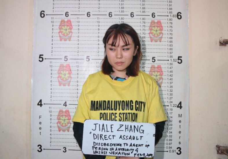 Chinese girl arrested for direct assault