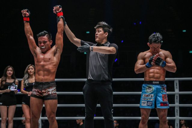 Mark Fairtex Abelardo, Kemp Cheng, Daichi Takenaka (© ONE Championship)