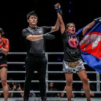 Cambodian Top Team's Nou Srey Pov beats Rika Ishige at 'ONE: Clash of Legends' in Bangkok, Thailand