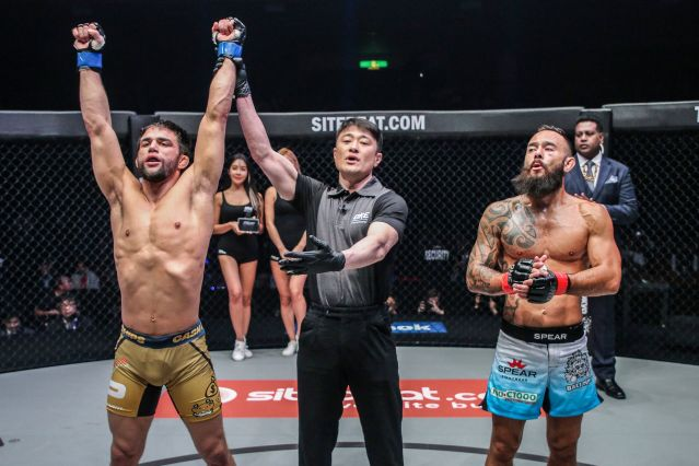 Garry Tonon, Yoshinori Umeki, Anthony Engelen (©ONE Championship)