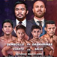 Full fight card of MP Promotions, Ringstar Asia's Michael Dasmarinas vs Kenny Demecillo event in Manila, Philippines