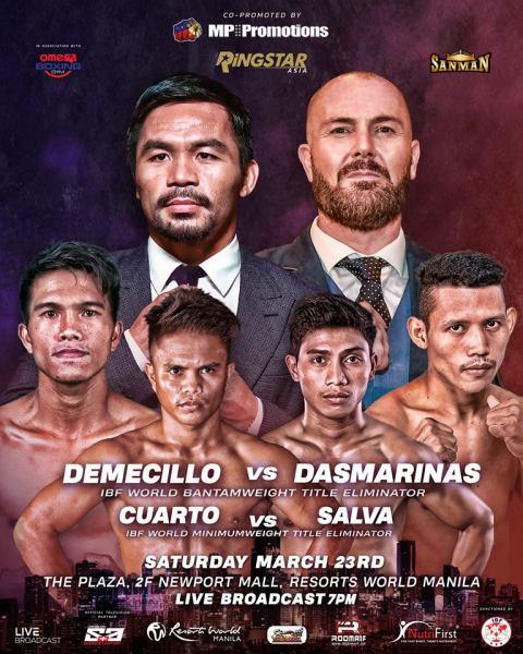 Kenny Demecillo, Manny Pacquiao, Rene Mark Cuarto, Samuel Salva, Scott Patrick Farrell, Michael Dasmarinas