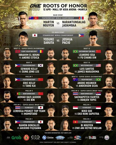 'ONE: Roots of Honor' fight card