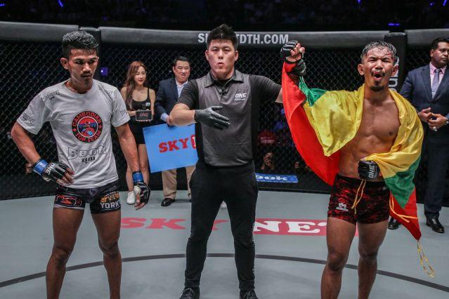 Rin Saroth, Kemp Cheng, Tial Thang (© ONE Championship)