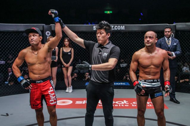 Timofey Nastyukhin, Kemp Cheng, Eddie Alvarez (©ONE Championship)