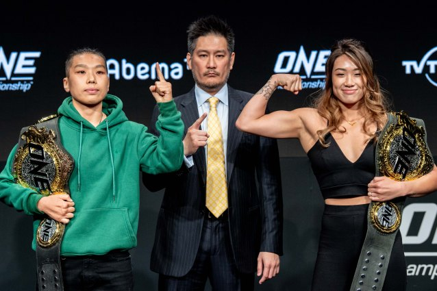 Xiong Jing Nan, Chatri Sityodtong, Angela Lee (©ONE Championship)