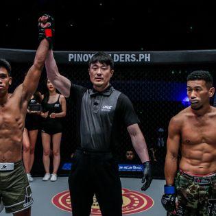 Ramon Gonzales, Yoshinori Umeki, Akihiro Fujisawa (© ONE Championship)