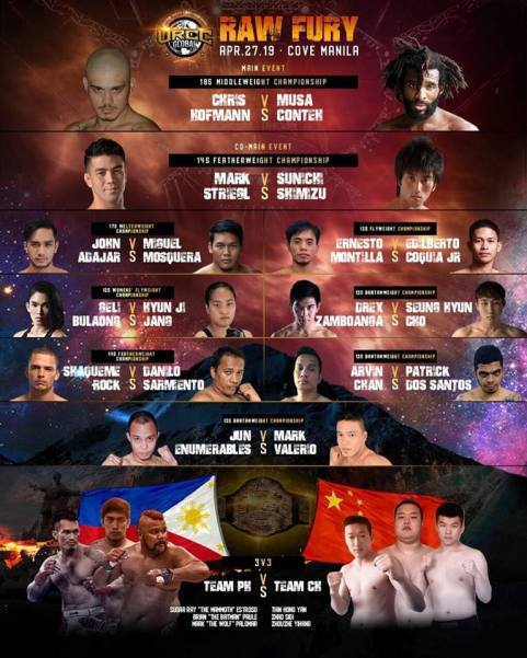 'URCC Global: Raw Fury' fight card