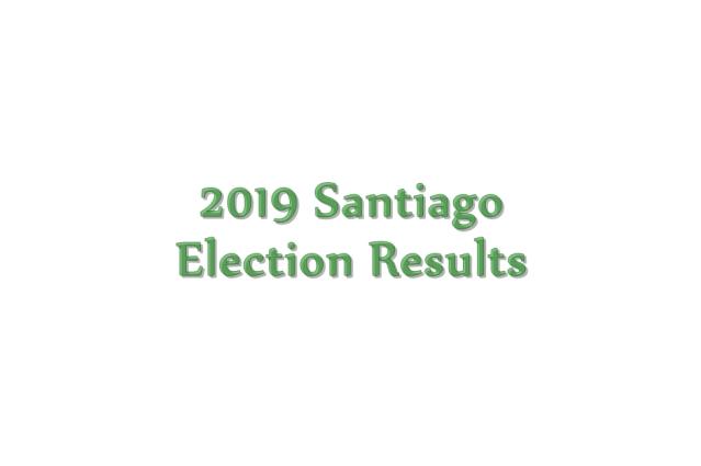 2019 Santiago election results
