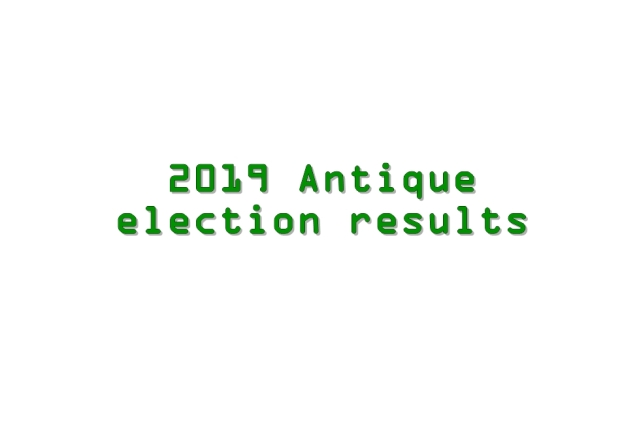 2019 Antique election results