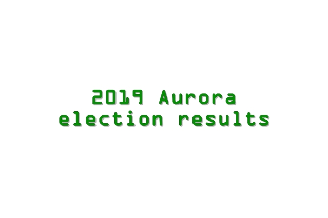 2019 Aurora election results