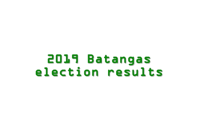 2019 Batangas election results