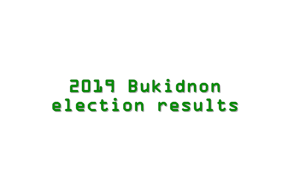 2019 Bukidnon congressman, governor, vice governor, board