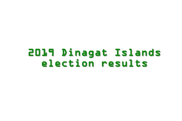 2019 Dinagat Islands election results