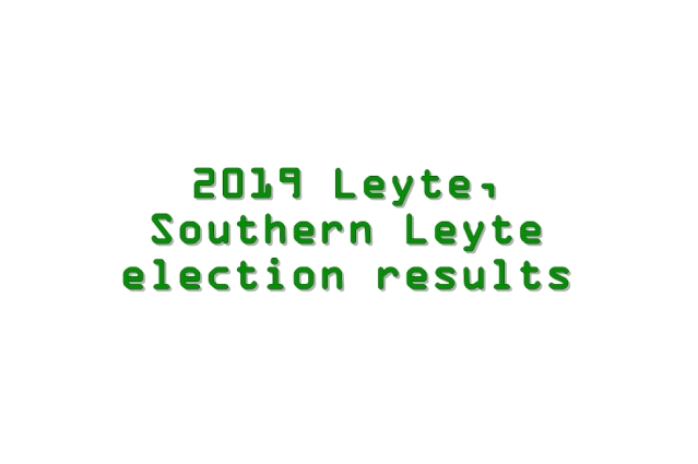 2019 Leyte, Southern Leyte election results