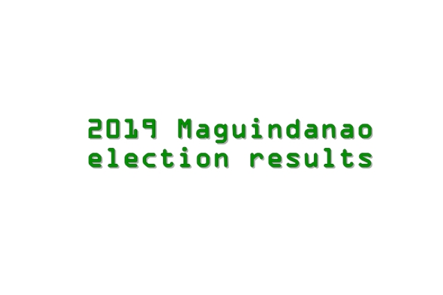 2019 Maguindanao election results