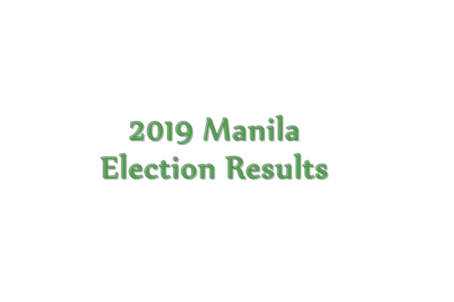 2019 Manila election results